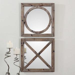 Baci e Abbracci Square Mirrors S/2 by Uttermost