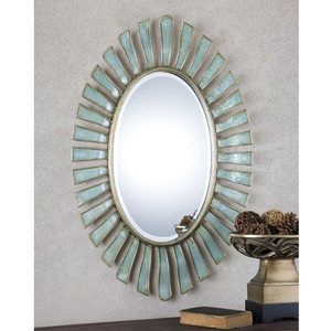 Morvoren Oval Mirror by Uttermost