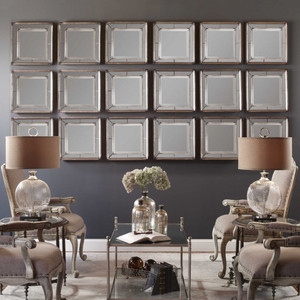 Davion Square Mirrors S/2 by Uttermost