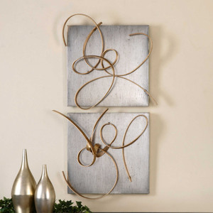 Harmony Metal Wall Decor S/2 by Uttermost