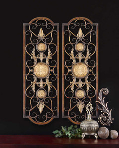 Micayla Metal Wall Panels S/2 by Uttermost