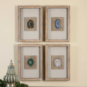 Agate Stone Shadow Box S/4 by Uttermost