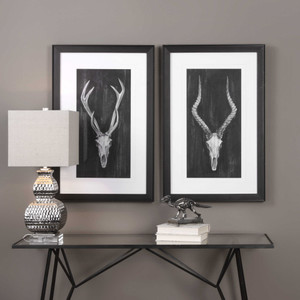 Rustic European Mounts Framed Prints S/2 by Uttermost
