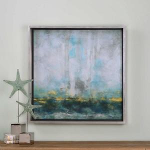Aqua Blue Framed Print by Uttermost