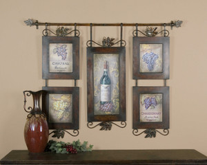 Hanging Wine Oil Reproduction OR by Uttermost