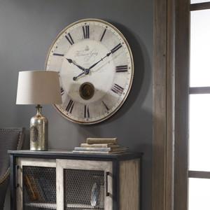 Harrison Gray 76cm Wall Clock by Uttermost