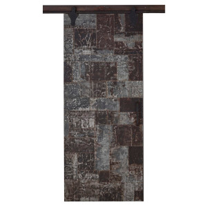 Urban Single Sliding Door w/ Recycle Tin - Size: 228H x 175W x 8D (cm)
