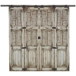 Cottage Double Twin Shutter Sliding Door - Size: 237H x 404W x 7D (cm)