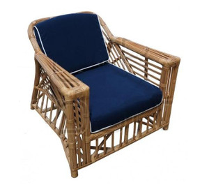 Ballina Arm Chair - Honey/Navy