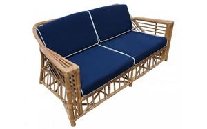Ballina 2.5 Seater Sofa - Honey/Navy