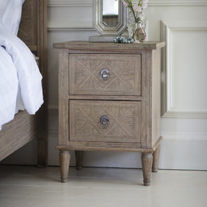 Newhaven 2 Drawer Bedside Table