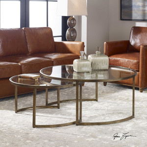 Rhea Nesting Tables S/2 by Uttermost