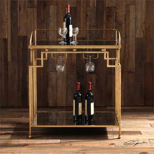 Burgess Bar Cart by Uttermost