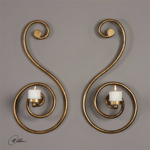 Lucetta Wall Sconces Set/2 by Uttermost