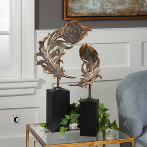 Quill Feathers Sculpture S/2 by Uttermost