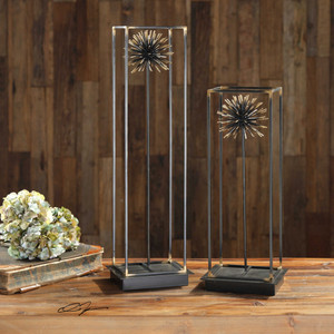 Flowering Dandelions Sculpture S/2 by Uttermost