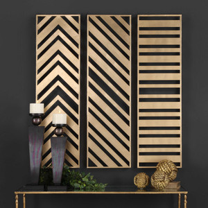 Zahara Metal Wall Panels S/3 by Uttermost