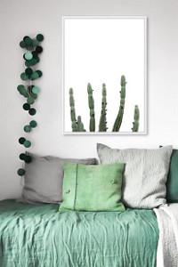 Minimal Cactus Framed Print