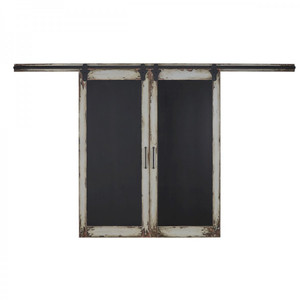 Double Sliding Door Chalkboard - Size: 228H x 364W x 7D (cm)