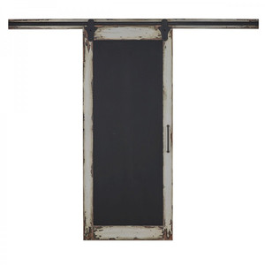 Cottage Single Sliding Door w/ Chalkboard - Size: 218H x 350W x 4D (cm)