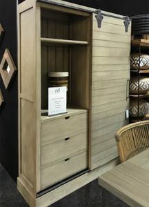 Sonoma Kitchen Cupboard with Sliding Door - Size: 211H x 142W x 48D (cm)