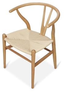 Scandinavian Woven Wishbone Beechwood Chair - Natural