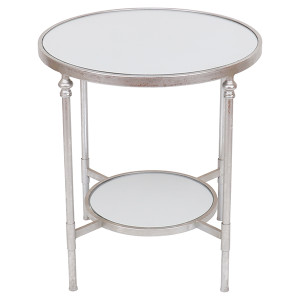 Bellport Mirrored Side Table - Size: 54W x 54D x 58H (cm)