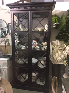 French Cross Display Cabinet - Black
