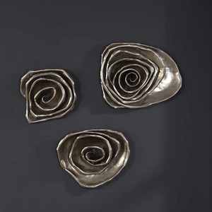 Amalie Metal Spiral Wall Decor S/3 by Uttermost