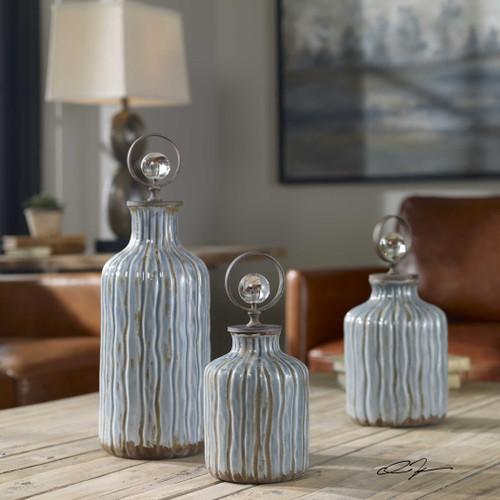 Mathias Bottles S/3 by Uttermost