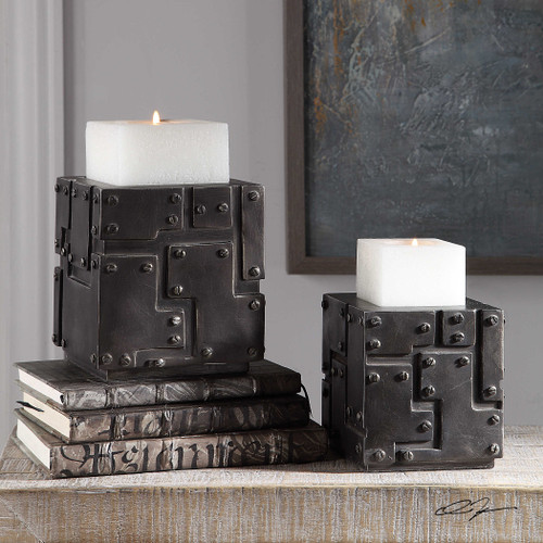 Malak Candleholders S/2 by Uttermost