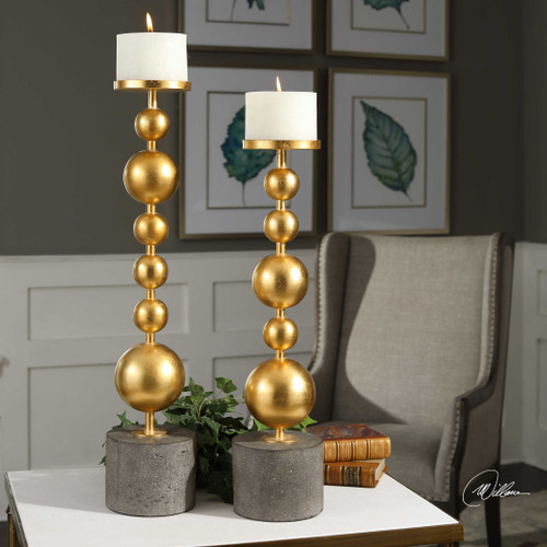 Selim Candleholders S/2 by Uttermost