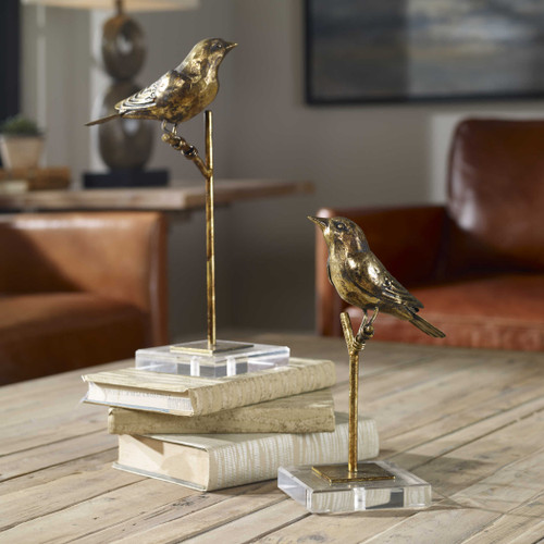 Passerines Figurines S/2 by Uttermost