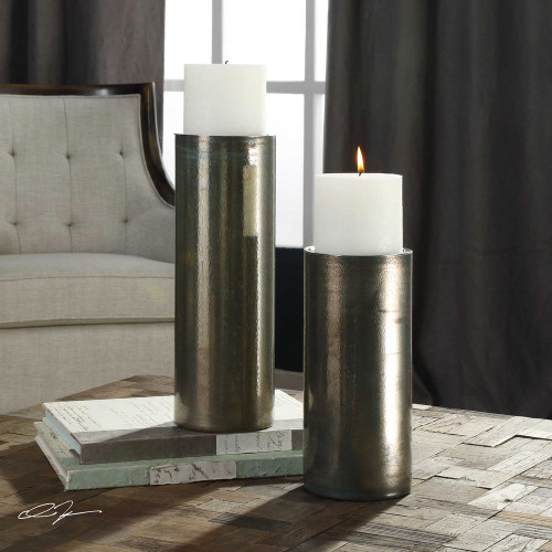 Amala Candleholders S/2 by Uttermost