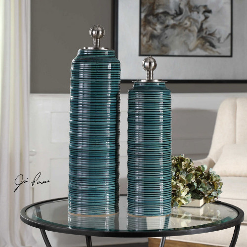 Delane Canisters S/2 by Uttermost