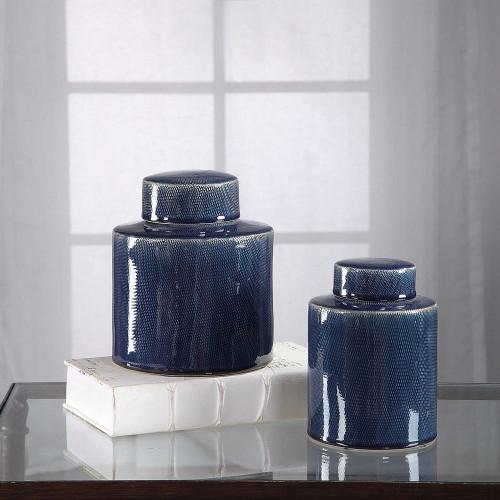 Saniya Blue Containers S/2