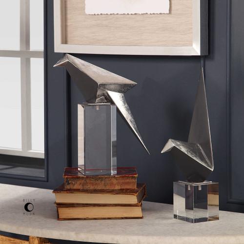 Origami Bird Figurines S/2 by Uttermost