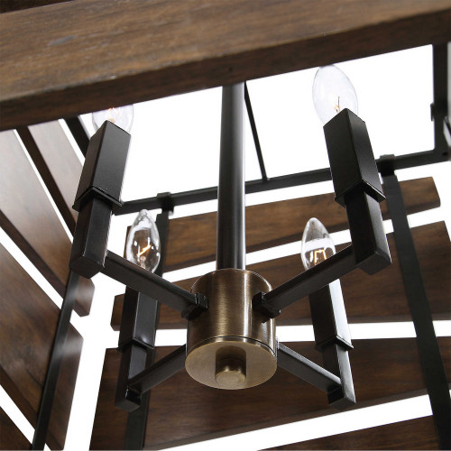 Augie 4 Light Industrial Pendant