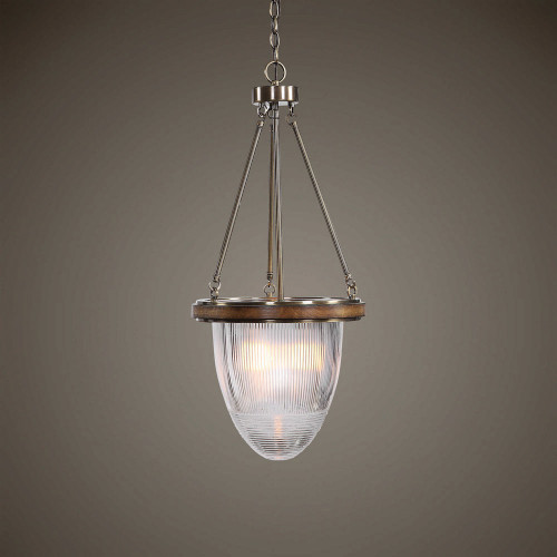 Clemmie 1 Light Industrial Pendant by Uttermost