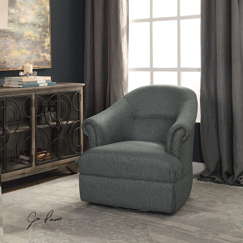 Tuloma Swivel Chair by Uttermost