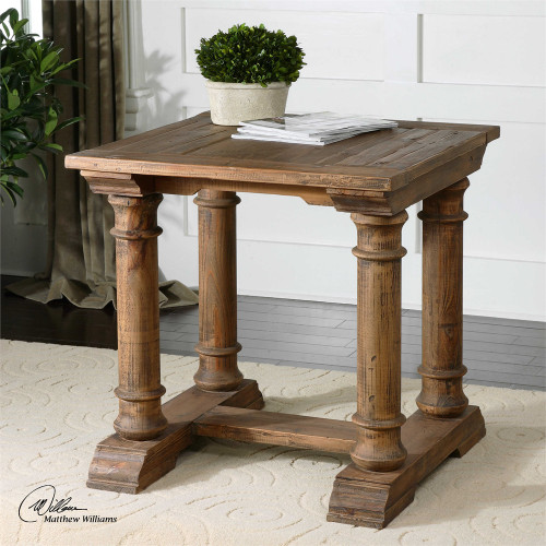 Saturia End Table - by Uttermost