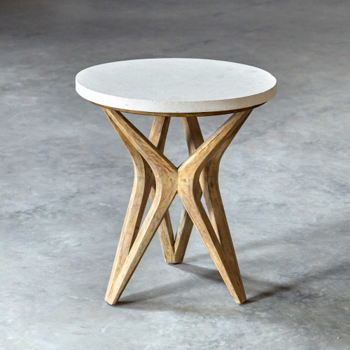 Marnie Limestone Accent Table by Uttermost