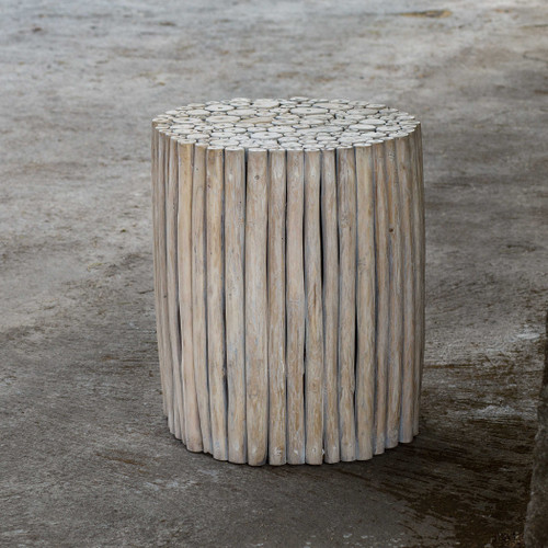 Tectona Teak End Table by Uttermost