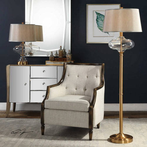 Jelani Brass Floor Lamp by Uttermost