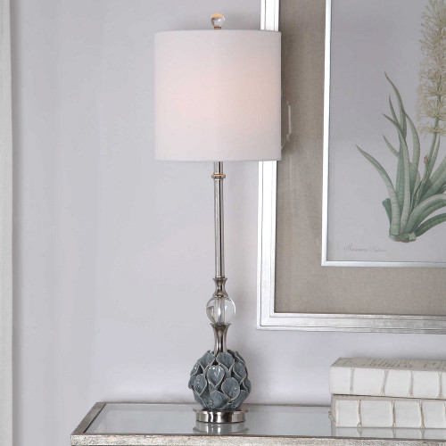 Elody Blue Gray Buffet Lamp by Uttermost