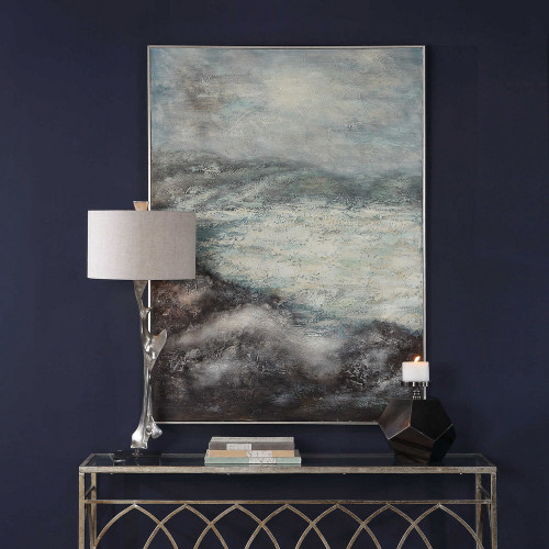 Azure Altitudes Hand Painted Canvas by Uttermost