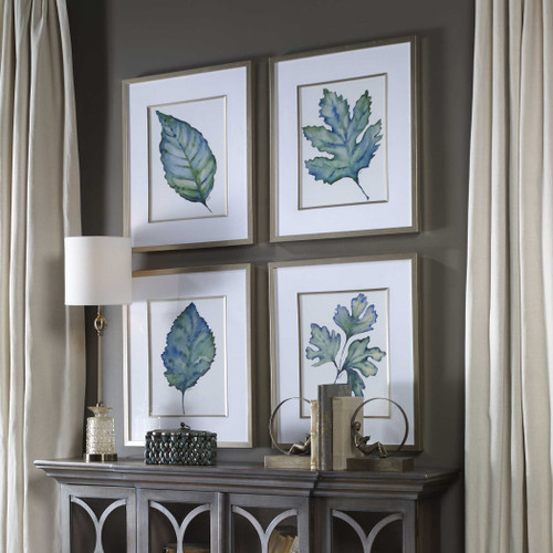 Spring Leaves Framed Prints S/4 by Uttermost