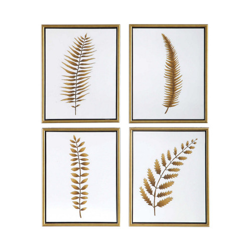 Forest Ferns Hand Painted Canvases S/4 by Uttermost
