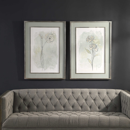 Stone Flower Study Framed Prints S/2 by Uttermost