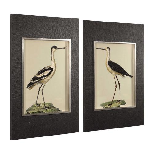 Birds On The Shore Framed Prints S/2